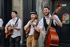 Musicisti ambulanti in Galway Fotografia Stock Libera da Diritti