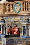 Musicisti ambulanti nella plaza de Espana immagini stock