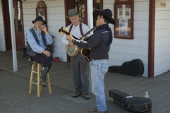 Musicisti anziani dell'anziano dei temporizzatori Fotografia Stock