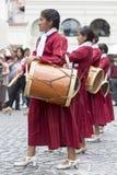 Musicisti che eseguono per l'apertura del Salta, Argentina di carnevale Fotografia Stock