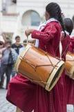 Musicisti che eseguono per l'apertura del Salta, Argentina di carnevale Fotografie Stock