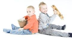 Musicisti dei fratelli Fotografia Stock