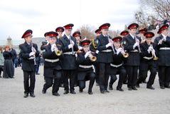Musicisti dell'orchestra - trombettisti Immagini Stock Libere da Diritti