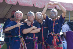 Musicisti della mascherina di Monky fotografie stock libere da diritti