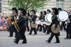 Musicisti della parata di festa dell'indipendenza fotografie stock libere da diritti