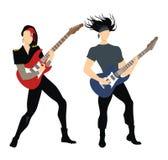 Musicisti della roccia royalty illustrazione gratis
