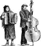 Musicisti della via Fotografia Stock Libera da Diritti