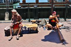 Musicisti della via a Sydney Fotografia Stock