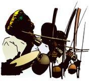 Musicisti di Capoeira. illustrazione vettoriale