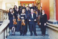 Musicisti di Orfeo dell'orchestra da camera fotografia stock