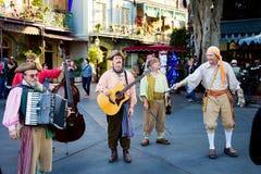 Musicisti Disneyland del pirata Fotografia Stock Libera da Diritti