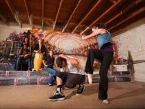 Musicisti ed esecutori di Capoeira fotografia stock