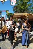 Musicisti medievali, Spagna Fotografie Stock