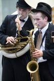 Musicisti nella via Fotografie Stock Libere da Diritti