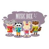 Musicisti piani delle bestie illustrazione di stock