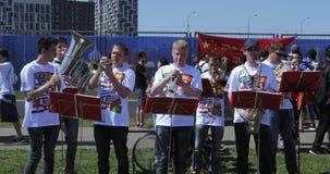 Musicisti prima della partita archivi video