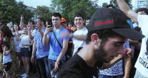 Musicisti prima della partita video d archivio