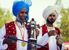 Musicisti sikh nel Punjab, India Fotografie Stock