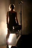Musicisti su un concerto rock Fotografia Stock Libera da Diritti