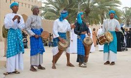 Musicisti tribali dell'Oman fotografia stock