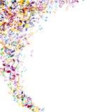 Musicnotes colorido ilustração stock