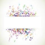 Musicnotes variopinto Immagini Stock