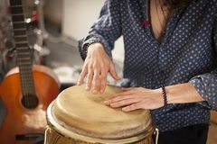 Musicology percussion rehearsal concept image. royalty free stock photos