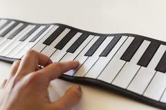Musicologybegrepp som föreställs med det fick- pianot Royaltyfri Foto
