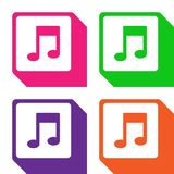 Musics icons set great for any use. Vector EPS10. Royalty Free Stock Photography