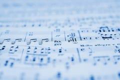 Musicsheet Immagine Stock