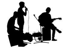 Musicus bij straat  Stock Afbeelding