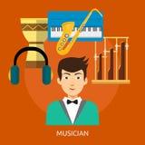 Musicus Conceptual Design royalty-vrije illustratie