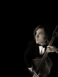 Musicus die de hemel bekijkt Royalty-vrije Stock Afbeelding