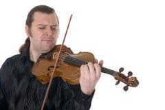 Musicus die een altviool speelt Stock Fotografie