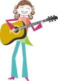 Musicus en muziek stock illustratie
