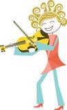 Musicus en muziek royalty-vrije illustratie