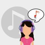 Musicus het luisteren melodie royalty-vrije illustratie