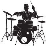 Musicus het speeltrommel plaatsen vector illustratie