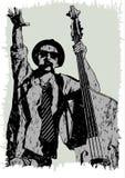 Musicus met baarzen drie stock illustratie