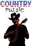 Musicus met een mandoline vijf vector illustratie