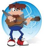 Musicus met gitaar royalty-vrije illustratie
