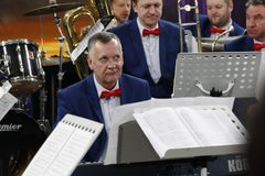 Musicus in orkest Royalty-vrije Stock Afbeelding
