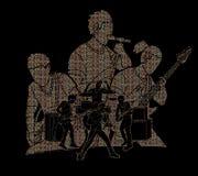 Musicus speelmuziek samen, Muziekband, Kunstenaar vector illustratie