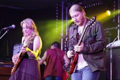 Musicus Susan Tedeschi & Derek Trucks Royalty-vrije Stock Afbeeldingen