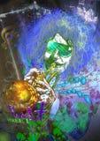 Musicus: Trompetter (gemengde mdiakunst) vector illustratie