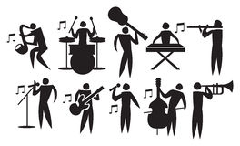 Musicus Vector Icon Set Stock Foto