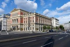Musicverein - de Muziekzaal van Wenen, Oostenrijk Stock Afbeeldingen