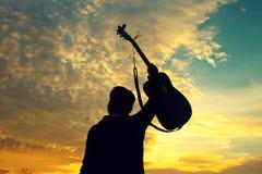 Musik är det bästa tinget för det bästa ögonblicket Royaltyfria Bilder