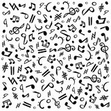 musik σημειώσεις Στοκ φωτογραφία με δικαίωμα ελεύθερης χρήσης