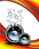 Musik-abstrakter Hintergrund Stockbilder